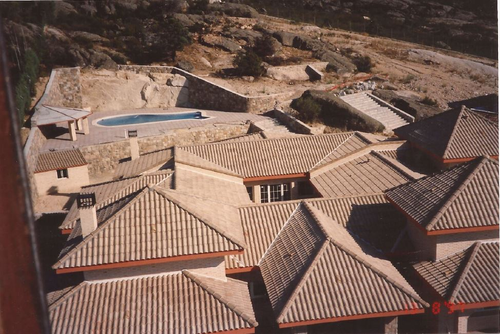 Chalet in Villalba Aerial View