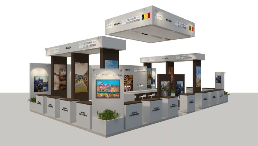 Diseño de Stand de Bélgica en FITUR