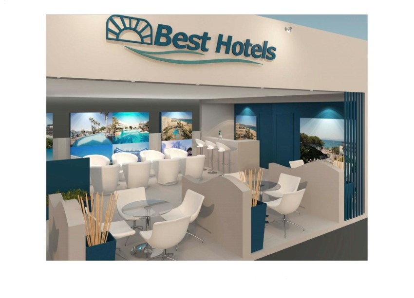 Diseño de Stand de BEST HOTELS en FITUR