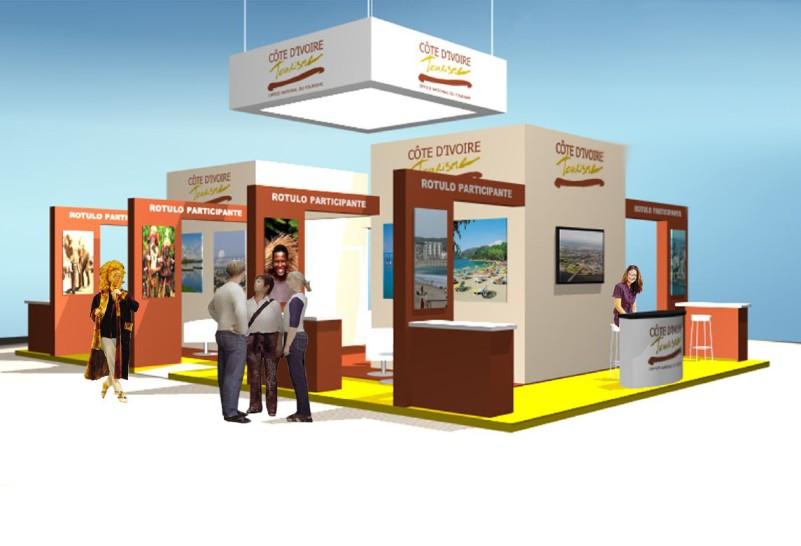Diseño de Stand de Costa de Marfil en FITUR