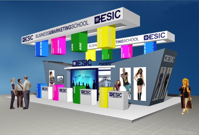 Diseño de Stand de ESIC en AULA