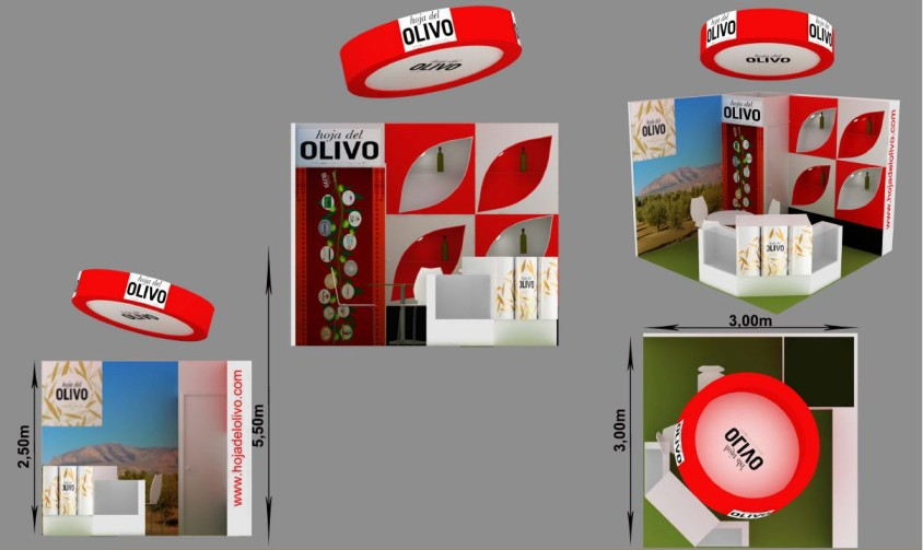 Diseño de Stand de Hoja Del Olivo en Alimentaria