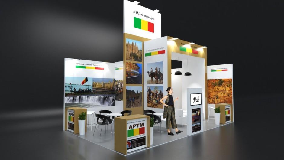 Diseño de Stand de Mali en FITUR