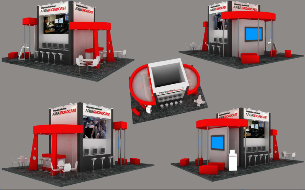 Stand Design for AREABROADCAST at Broadcast