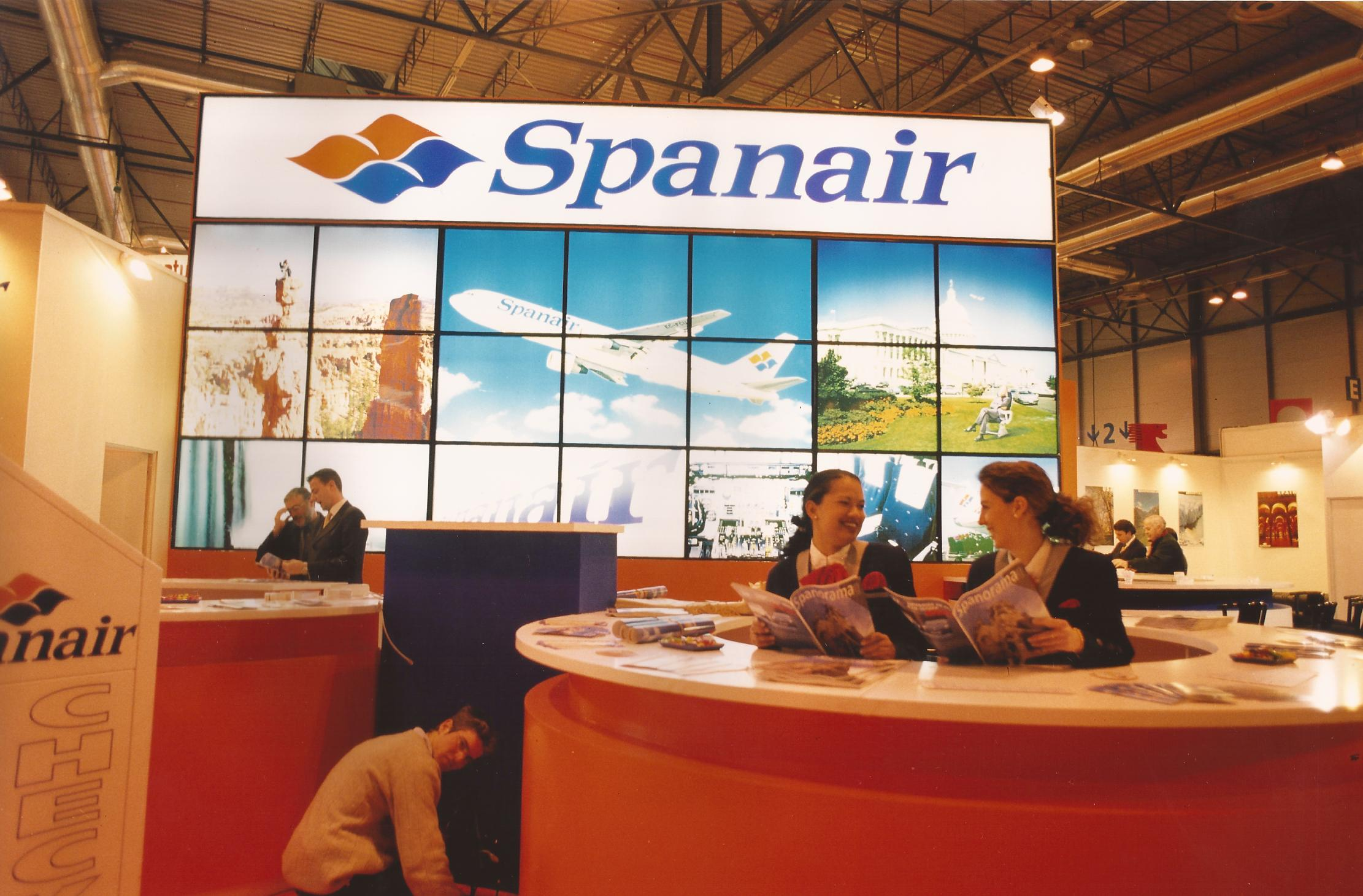 Stand for Spanair at FITUR