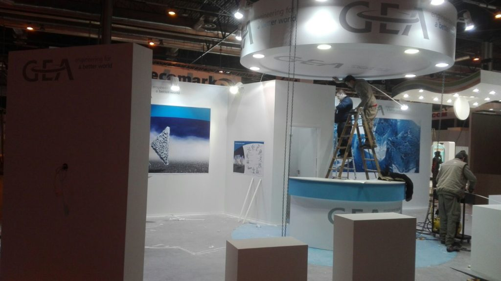 Stand in construction for GEA Engineering at CLIMATIZACION