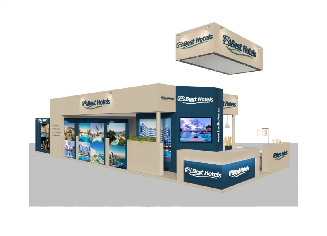 Stand Design for BEST HOTELS at FITUR